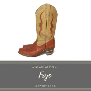 VTG Pre-Loved FRYE Western Cowboy Boot USA, sz. 10